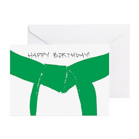Martial Arts Green Belt Birthday Cards 10PK