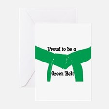 Proud to be a Green Belt Greeting Cards (Pk of 10)