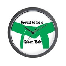 Proud to be a Green Belt Wall Clock