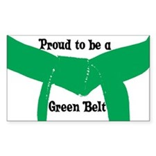 Proud to be a Green Belt Rectangle Decal