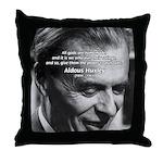 Mysticism Aldous Huxley Throw Pillow