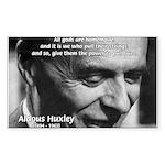 Mysticism Aldous Huxley Rectangle Sticker