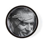 Mysticism Aldous Huxley Wall Clock