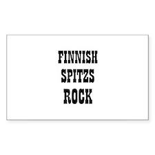 FINNISH SPITZS ROCK Rectangle Decal