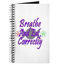 Breathe & Eat Correctly Journal