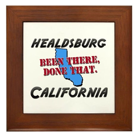 healdsburg california - been there, done that Fram