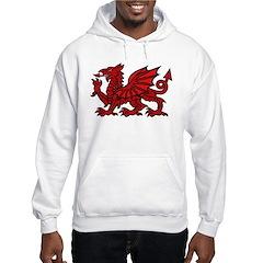 Red Welsh Hooded Sweatshirt