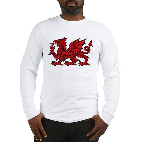 Red Welsh Long Sleeve T-Shirt