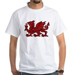Red Welsh White T-Shirt