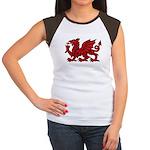 Red Welsh Women's Cap Sleeve T-Shirt