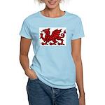 Red Welsh Women's Pink T-Shirt