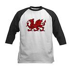 Red Welsh Kids Baseball Jersey