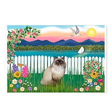 Garden Shore / Himalayan Cat Postcards (Package of