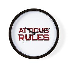 atticus rules Wall Clock