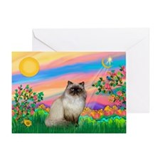 Day Star / Himalayan Cat Greeting Card