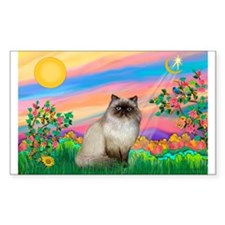 Day Star / Himalayan Cat Rectangle Decal