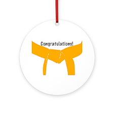 Martial Arts Congratulations Orange Belt Ornament