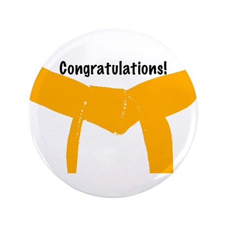 Martial Arts Congrats Orange Belt Button