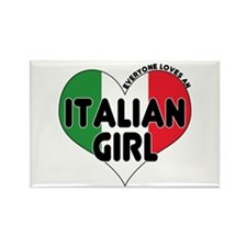 Everyone Loves an Italian Gir Rectangle Magnet