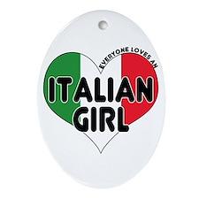 Everyone Loves an Italian Gir Oval Ornament