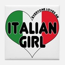 Everyone Loves an Italian Gir Tile Coaster
