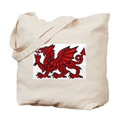 Red Welsh Dragon Tote Bag