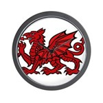 Red Welsh Dragon Wall Clock