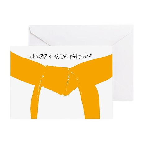 Orange Belt Happy Birthday Greeting Card