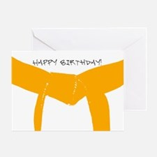 Orange Belt Happy Birthday Greeting Card