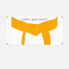 Orange Belt Happy Birthday Banner