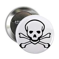 "Skull and Crossbones 2.25"" Button"