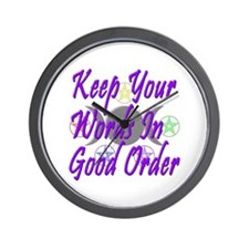 Words in Good Order Wall Clock