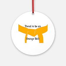Proud to be Orange Belt Ornament (Round)