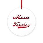 Music Teacher Ornament (Round)