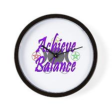 Achieve Balance Wall Clock