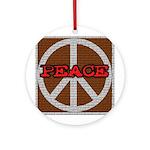 Brick Wall Peace Sign  Keepsake (Round)