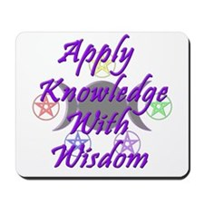 Knowledge with Wisdom Mousepad