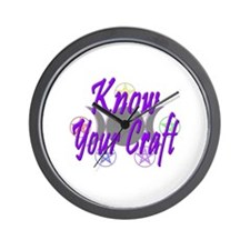 Know Your Craft Wall Clock