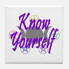 Know Yourself Tile Coaster