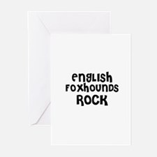 ENGLISH FOXHOUNDS ROCK Greeting Cards (Package of