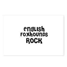 ENGLISH FOXHOUNDS ROCK Postcards (Package of 8)