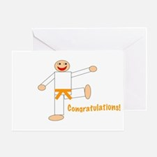 Martial Arts Congratulations Orange Belt Card
