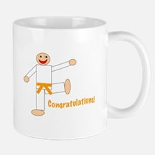 Martial Arts Congratulations Orange Belt Mug