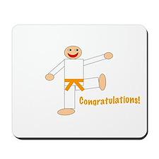 Martial Arts Congratulations Orange Belt Mousepad