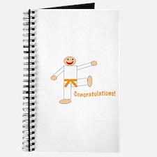 Martial Arts Congratulations Orange Belt Journal
