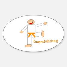 Martial Arts Congratulations Orange Belt Decal
