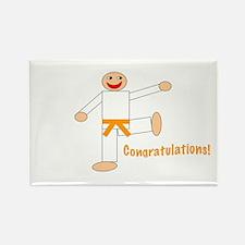 Martial Arts Congrats Orange Belt Rectangle 100PK
