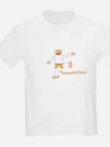Martial Arts Congrats Orange Belt T-Shirt