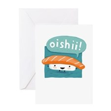 Oishii Sushi Greeting Card