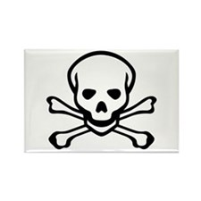 Skull and Crossbones Rectangle Magnet